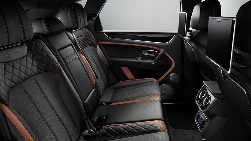 Второй ряд сидений Bentley Bentayga Speed