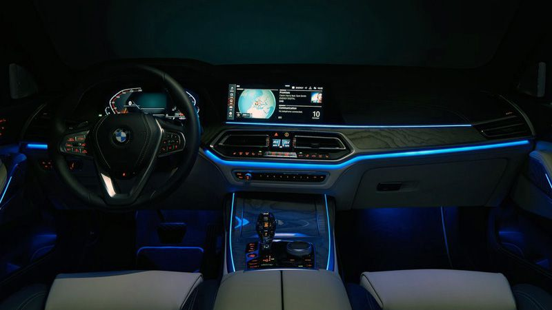 Подсветка салона БМВ Икс 7
