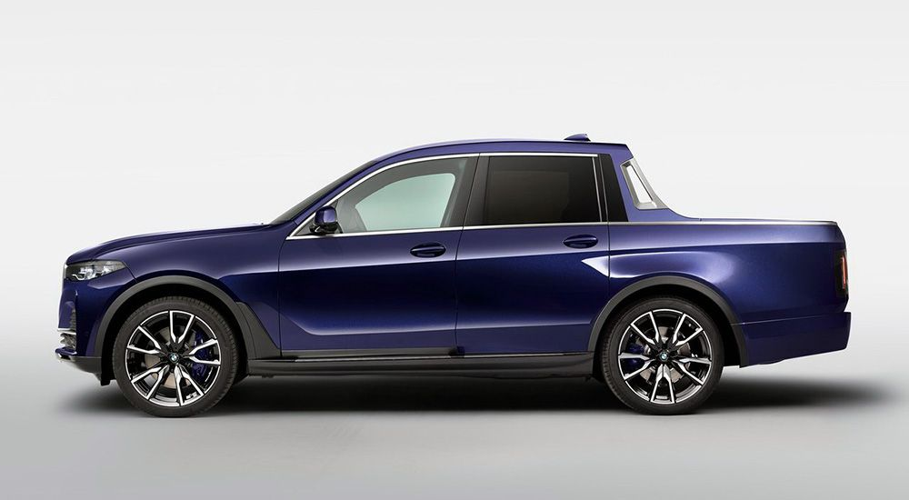 BMW X7 Pick-up вид сбоку