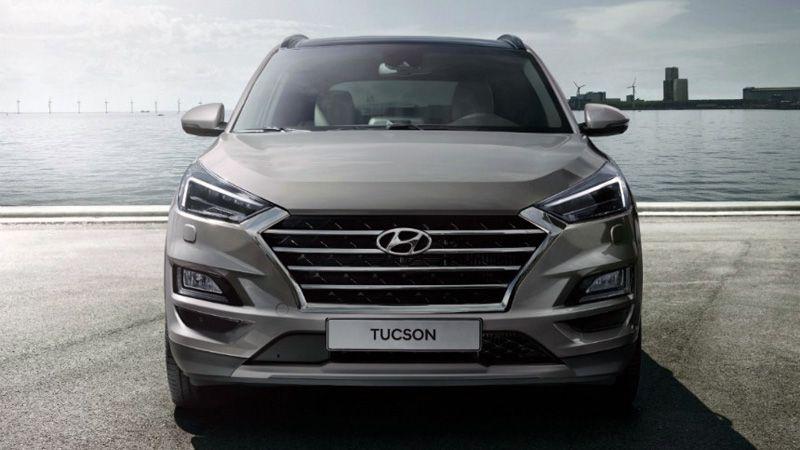 Новый Hyundai Tucson 2018-2019 вид спереди