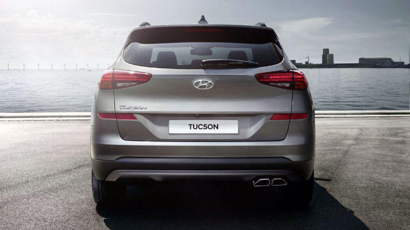 Новый Hyundai Tucson 2018-2019 вид сзади