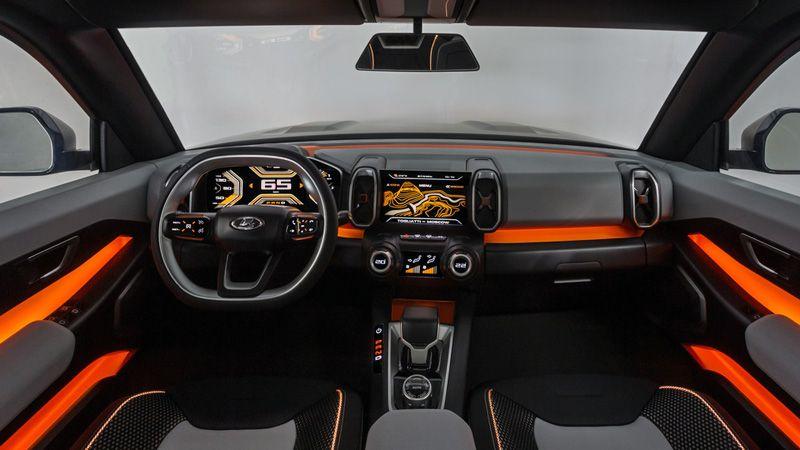 Салон новой Lada 4х4 Vision