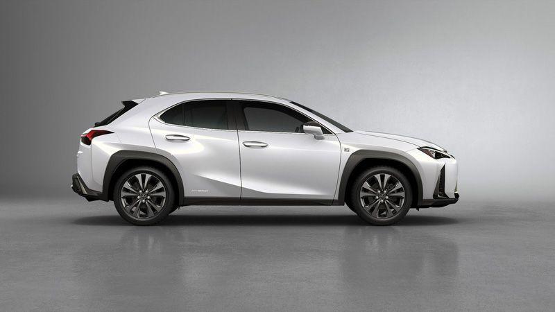 Lexus UX 2018 вид сбоку