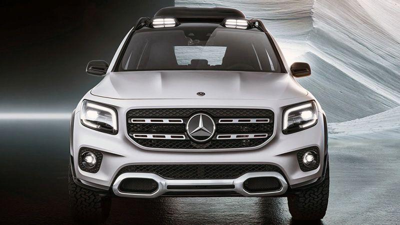 Mercedes GLB вид спереди
