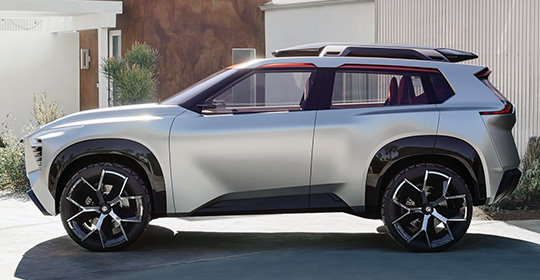Nissan Xmotion Concept вид сбоку