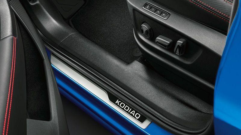 Алюминиевая накладка на порог Skoda Kodiaq RS