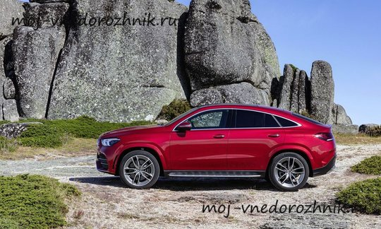 Mercedes GLE Coupe вид сбоку