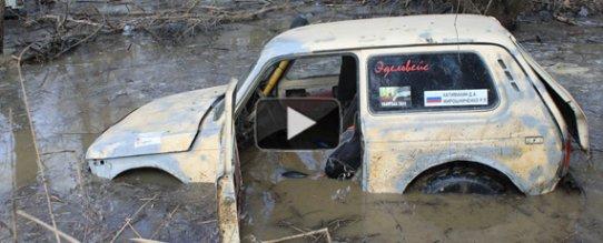 Гонки на джипах по грязи - видео с соревнований