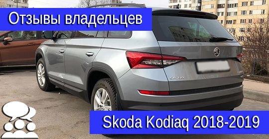 Skoda Kodiaq 2018-2019 отзывы: недостатки и достоинства