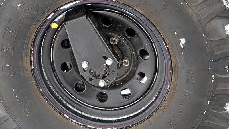 Автоматическая подкачка колес на вездеходе Грибник